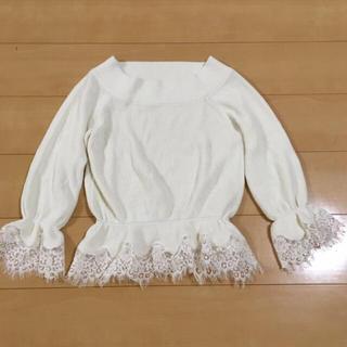 リランドチュール(Rirandture)の新品♡オフショルレースニット(ニット/セーター)