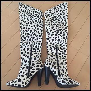 LOVELESS(ラブレス)のGUILD PRIME ダルメシアンニーハイブーツ LOVELESS レディースの靴/シューズ
