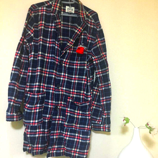 アップスタート(UPSTART)のアップスタート ロングチェックシャツ(シャツ/ブラウス(長袖/七分))