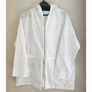 SHENERY フーテッドシャツジャケット オフホワイト FREEサイズ(その他)