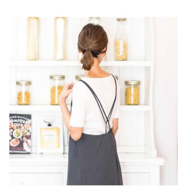 b2c Wストラップ エプロン ドレス 黒 Lサイズ レディースのレディース その他(その他)の商品写真