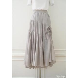 herlipto Cotton-voile Skirt ♡light sage♡