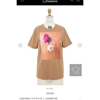 Drawer - LISA KING☆今季FLOWER TEE ベージュ