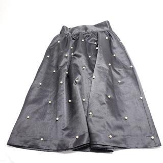 メゾンドフルール(Maison de FLEUR)の■Maison de FLEURプチローブ スカート 黒 レディース F(ひざ丈スカート)