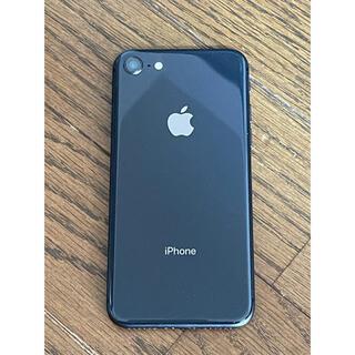 Apple - iphone8 64GB スペースグレー simロック解除済