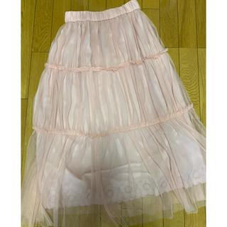 マリークワント(MARY QUANT)のめぐち様専用♡マリークワント チュールロングスカート、新品(ロングスカート)