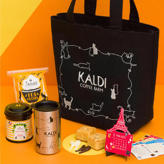 カルディ(KALDI)の【新品、お値下げ中】KALDI ネコの日バッグプレミアム2021 抜き取りなし(トートバッグ)