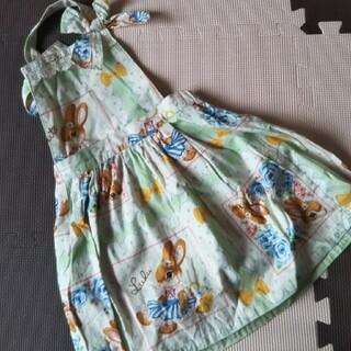シャーリーテンプル(Shirley Temple)の確認用 シャーリーテンプル うさぎ ジャンパースカート 100(ワンピース)