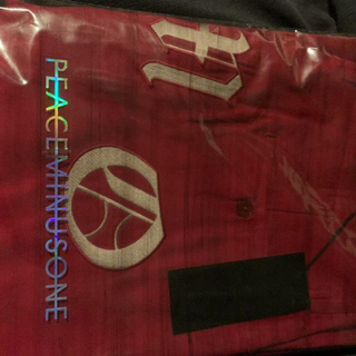 ピースマイナスワン(PEACEMINUSONE)のPMO WORK PANTS #1 RED(ワークパンツ/カーゴパンツ)