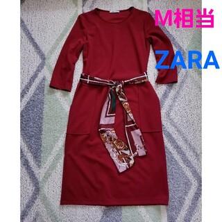 ZARA - ZARAリボンスカーフワンピース