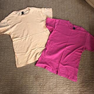 オルタナティブ(ALTERNATIVE)の送料込み!SサイズalternativeソフトタッチTシャツオレンジピンク2点(Tシャツ/カットソー(半袖/袖なし))