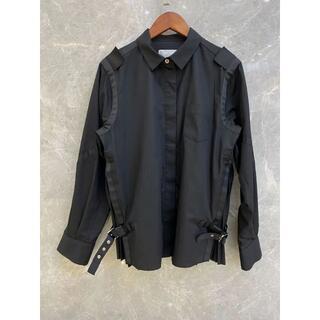 サカイ(sacai)のsacai 黒いシャツ(シャツ/ブラウス(長袖/七分))