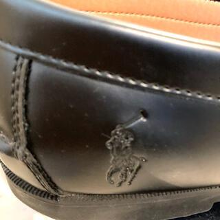 ポロラルフローレン(POLO RALPH LAUREN)のPOLO Ralph Lauren ローファー黒 24.5cm(ローファー/革靴)