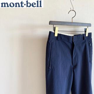 モンベル(mont bell)のモンベル ソフトシェル クロップド パンツ 80 ネイビー(カジュアルパンツ)