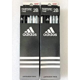 アディダス(adidas)の【きいろ様専用】新品「uni adidas かきかた鉛筆 六角軸 2B☆4点」(鉛筆)
