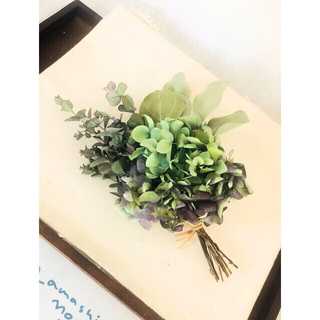 ユーカリ グニー ポポラス 秋色紫陽花 スワッグ グリーン×パープル 松山グニー(ドライフラワー)