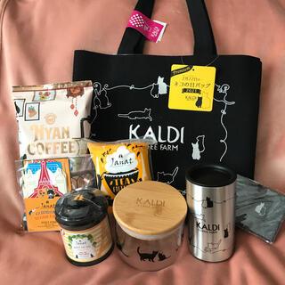 カルディ(KALDI)のKALDI ネコの日 バッグ (タンブラー)