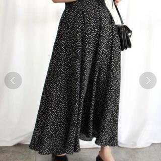 アイスー(i-SOOK)のドットフレアロングスカート(ロングスカート)