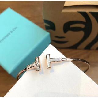 Tiffany & Co. - ダブルTホワイトシェルブレスレット