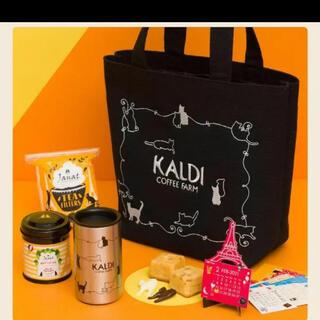 カルディ(KALDI)のカルディ KALDI ネコの日バッグ プレミアム 2021 抜き取りなし(トートバッグ)