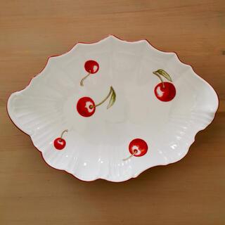 廃盤 リチャード ジノリ ginori アンティコチェリー 変形シェルディッシュ(食器)