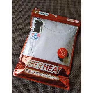 シマムラ(しまむら)の5L/新品/しまむら FIBERHEAT/メンズ 丸首 半袖Tシャツ/白(その他)