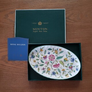 MINTON - MINTON ミントン ハドンホール オーバル トレイ プレート 皿 新品