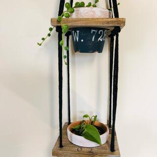5つ掛け♪ wooden plant hanger プラントハンガー+植木鉢(プランター)