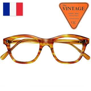 デッド40sフランスヴィンテージ46/20ホーンリムウェリントンフレーム鼈甲眼鏡(サングラス/メガネ)