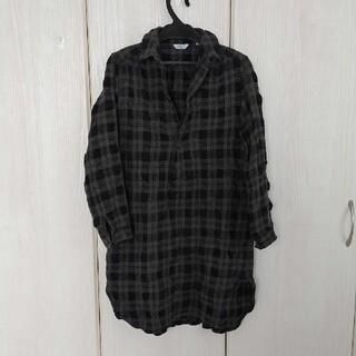 ルグラジック(LE GLAZIK)のle glazik☆ウール混チュニックシャツ S(シャツ/ブラウス(長袖/七分))