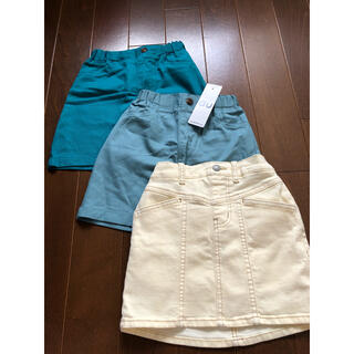 GU - 全部GUのスカート3枚セット110cm☆新品タグ付きと一回だけ使用のみの2枚