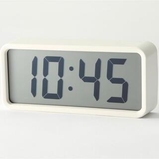 MUJI (無印良品) - 限定半額★新品☆無印良品 デジタル時計・大 ホワイト 白 置時計 SONY&◆