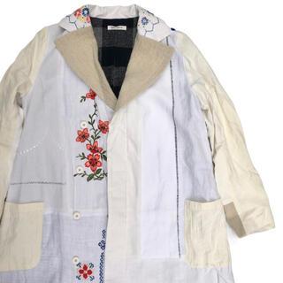 イェーライト(YEAH RIGHT!)のyeah right‼︎ イヤーライトTABLE CLOTH コート  白 刺繍(トレンチコート)
