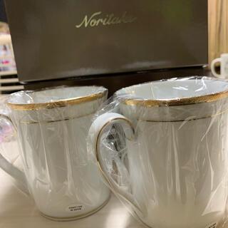 ノリタケ(Noritake)のノリタケ ハンプシャーゴールド ペアマグカップ(グラス/カップ)