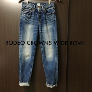 ロデオクラウンズワイドボウル(RODEO CROWNS WIDE BOWL)のストレートスリムデニムパンツ(デニム/ジーンズ)
