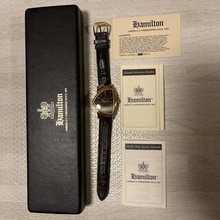 希少品! HAMILTON ベンチュラ 6250 ゴールド ブラック ビンテージ