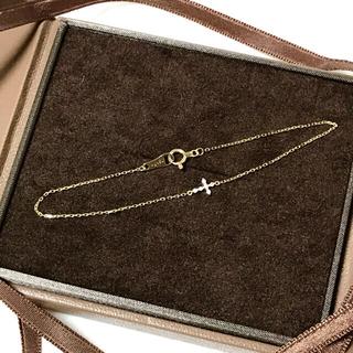 アガット(agete)のagete アガット K18 クロス ダイヤモンド ブレスレット(ブレスレット/バングル)