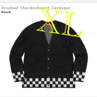 シュプリーム(Supreme)のSupreme brushed checkerboard cardigan xl(ニット/セーター)