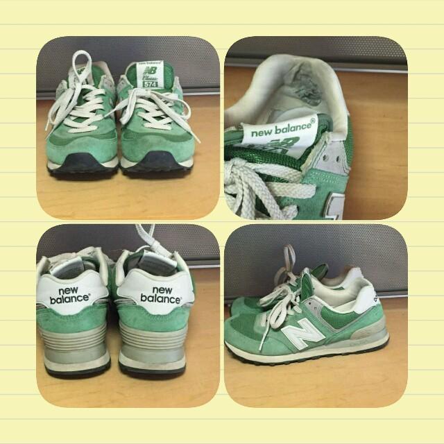 New Balance(ニューバランス)のnewbalanceニューバランススニーカーグリーン574 レディースの靴/シューズ(スニーカー)の商品写真
