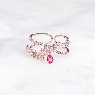 メゾンドフルール(Maison de FLEUR)の③モカトーキョー ケイティ  マロンドビジュー リング 指輪(リング(指輪))