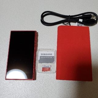 ウォークマン(WALKMAN)のsony WALKMAN NW-A105 16GB レッド(ポータブルプレーヤー)