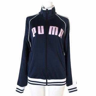 プーマ(PUMA)のプーマ PUMA ジャージ ジャケット ロゴ プリント ジップアップ 86163(ブルゾン)