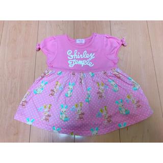 シャーリーテンプル(Shirley Temple)のシャーリーテンプル うさぎ柄 トップス80(Tシャツ)