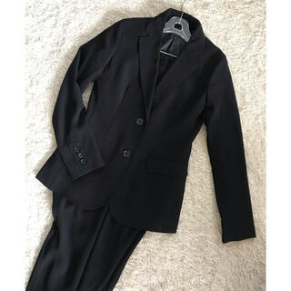 プラステ(PLST)のプラステ☆テーラードパンツスーツ ブラック セットアップ(スーツ)