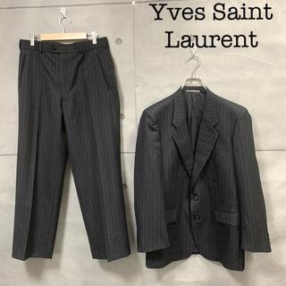 Saint Laurent - 希少・極美品 イヴサンローラン ウール 2Bスーツ セットアップ 裏総 シングル