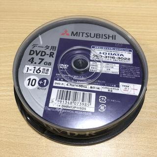 ミツビシ(三菱)の【新品 未使用】MITSUBISHI データ用 DVD-R 10+1枚パック(その他)