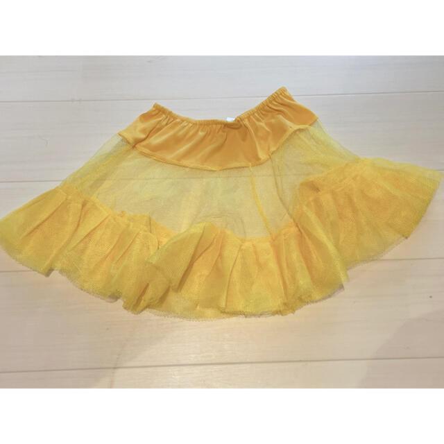 チュールスカート パニエ イエロー 黄色 エンタメ/ホビーのコスプレ(コスプレ用インナー)の商品写真