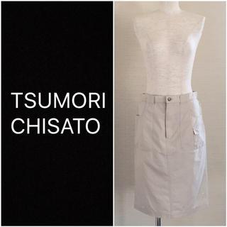 ツモリチサト(TSUMORI CHISATO)の❤️送料込❤️TSUMORI CHISATO コットンリネンタイトスカート(ひざ丈スカート)
