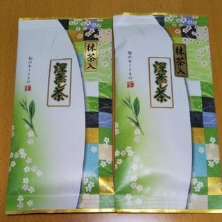静岡県産 令和2年の新茶抹茶入り深蒸し茶1袋100g✕2袋セット 新品未開封(茶)