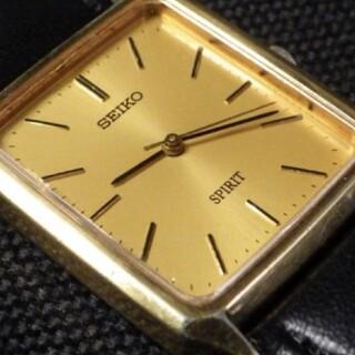 セイコー(SEIKO)の★SEIKO セイコー SPIRITゴールド文字盤 スクエア  クォーツ腕時計(腕時計(アナログ))